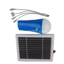 Portable camping 3W solar torch solar power system with 4400mAH Lithium battery